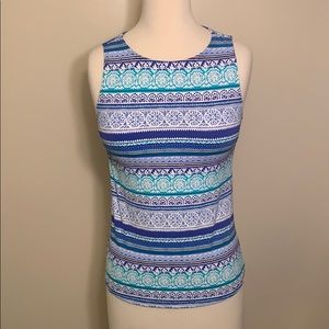 Land's End Tank  Top with Sewn in bra Size 4